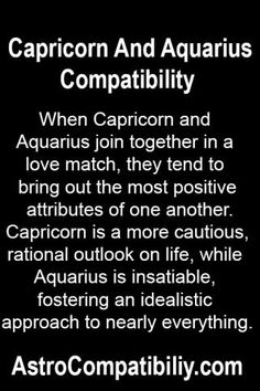When Capricorn and Aquarius join together in a love match... | AstroCompatibility.com