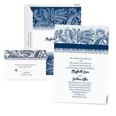 Custom Lace Wedding Invitation