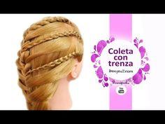 Peinados con Coletas con Trenzas Triple - Faciles y Bonitos para Gimnasio - YouTube