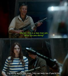Amy Pond isn't having any of that.