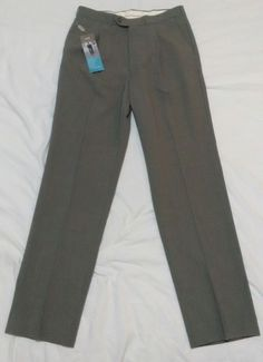 Marks & Spencer Tailoring Men's Trousers W32 L33 Taupe Washable Single Pleat | eBay