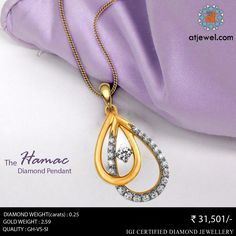 Design Of The Day... ATJewel Presents Hamac Diamond Pendant at Best Prize.Shop Now. #ATJewel #Diamond #Gold #Pendant #ValentineSpecial http://bit.ly/2k7I1aN