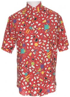 f7dca57511b Red Shape Print Shirt - Vintage clothing from Rokit - shirt