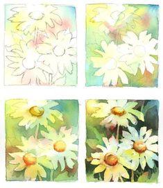 Brenda Swenson: Negative Painting Demonstration | Someday... | Pinterest | Paintings ...