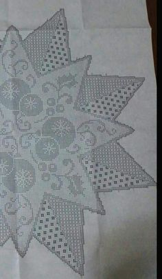 Home Decor Crochet Patterns Part 164 - Beautiful Crochet Patterns and Knitting Patterns Crochet Christmas Decorations, Holiday Crochet, Christmas Knitting, Crochet Patterns Filet, Crochet Diagram, Knitting Patterns, Crochet Cross, Thread Crochet, Crochet Doilies