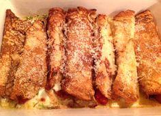 Italiaanse pannenkoekenwraps uit de oven.