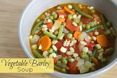 The Garden Grazer: Vegetable Barley Soup
