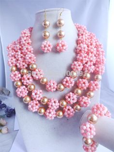 Free Shipping, 2014 African wedding coral jewelry set MN-1263 $91.57