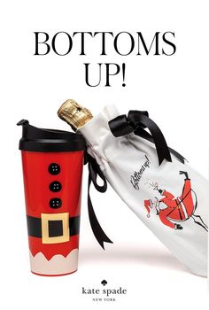 shop for the holiday hostess... a champagne sleeve (for tonight!) and a coffee tumbler (for tomorrow...)