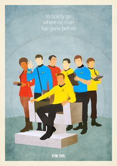 Awesome star trek retro posters