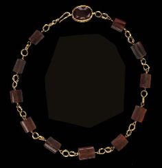 A ROMAN GOLD AND CARNELIAN NECKLACE  CIRCA 2ND CENTURY A.D.