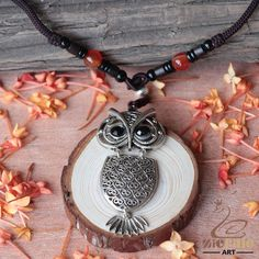 CERAMIC JEWELRY METAL OWL BIRD DIY PENDANT NECKLACE ZN80 00038 #ZL #NECKLACE