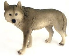 The gray wolf statue is the perfect way to express your appreciation for the majestic gray wolf. Wolf lovers will love sculpture and display it proudly! Made of polyresin stone and hand-painted. Measu