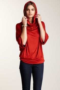 24/7 Comfort Multi-Style Cowl Neck and Hooded Top