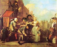 La carriera di un libertino, William Hogarth, 1733, olio su tela, National Gallery, Londra