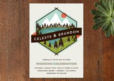 camp inspired invitation from Minted