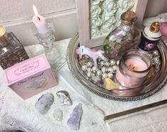 aphrodite altar | Tumblr Witch Aesthetic, Aesthetic Room Decor, Wicca Altar, Magick, Witchcraft, Aphrodite Aesthetic, Witch Room, Crystal Altar, Crystal Aesthetic