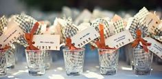 Everyone could use an extra shot glass. can be engraved with message like 'taking a shot at marriage'