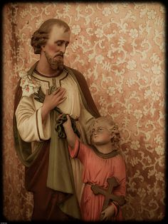 """St. Joseph, Jesus, adoption, and IVF: we obsess so much about biological parenthood and having our """"own"""" kids. Well guess what: Jesus wasn't St. Joseph's """"own"""" kid-- God entrusted Himself to St. Joseph's stewardship and care. The Catholic Church understands motherhood and fatherhood to be spiritual as well as biological. We will not be fully pro-life unless we also speak out against IVF as well as abortion, and unless we understand that all children are God's children, not """"our"""" children."""