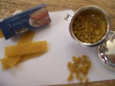 How To Make Miniature Dollhouse Lasagna Noodles and Spiral Noodles - YouTube