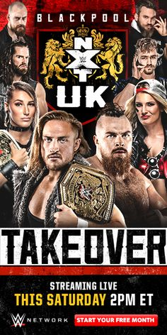 NXT UK TakeOver: Blackpool was a professional wrestling show and WWE Network event produced by WWE for their NXT UK brand. Tv Series Online, Movies Online, Movies To Watch, Good Movies, Scary Movie 2, Blackpool Uk, Ip Man 4, Wrestling Posters, Cards On The Table