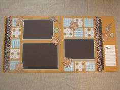 Autumn Scrapbook layout using the beautiful Spice Cake products by Stampin' UP!