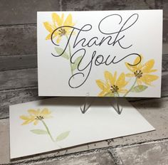 QUICK and EASY Thank You card, stampin up only, Avant Garden & So Very Much 2017 Sale-a-Bration stamp sets.