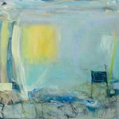 David Mankin, Daffodil Sky, 100 x 100 cm, acrylic on wood, Cornwall Contemporary David, Abstract Landscape, Abstract Art, Abstract Paintings, Blue Art, Contemporary Paintings, Daffodils, Painting Inspiration, Art History