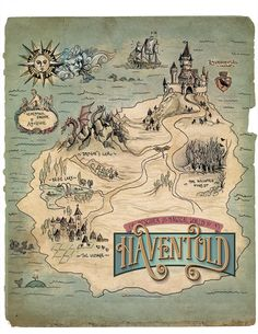 Map of Haventold #map #illustration #fairytale