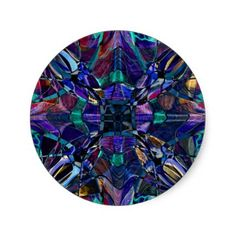 Blue Kaleidoscope Fractal Round Stickers | Fractal Art Gifts - http://www.photographybypixie.com/2015/01/30/blue-kaleidoscope-fractal-round-stickers-fractal-art-gifts/ #fractalart #fractal #art #gifts