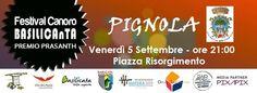 """notizie lucane, basilicata news: festival canoro """"BASILICAnTA 2014 a Pignola"""