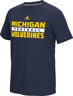 Michigan Wolverines Blue Adidas Ultimate Synthetic Performance Shirt $34.95