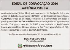 Blog do ANDRÉ LUIS FONTES : PREFEITURA FARÁ AUDIÊNCIA PÚBLICA NESTA SEGUNDA 29...