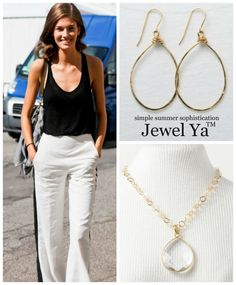 simple summer sophistication  shop jewelya.com to complete your look