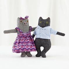 Kids Stuffed Animals: Mimi Kirchner Mr and Mrs Kitty in All Toys   The Land of Nod