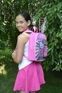 11-YEAR-OLD GIRL DESIGNS SPECIAL BACKPACK FOR KIDS WITH CANCER