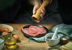 Buy cook is seasoning meat by magone on PhotoDune. cook is seasoning meat for making schnitzel Meat Seasoning, Wiener Schnitzel, Butter, Stock Photos, Steak, Food Fresh, Male Man, Dinner, Photographs