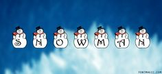 30 Free winter fonts for your seasonal projects Font Winter Fonts, Christmas Themes, Snowflakes, Snowman, Snoopy, Seasons, Projects, Free, Design