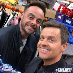 Saturday Night Takeaway - We we're back on the telly tonight and boy, did we have a blast! Saturday Night Takeaway, Declan Donnelly, Ant & Dec, Tv Presenters, Ants, Besties, Random, Ant, Bff