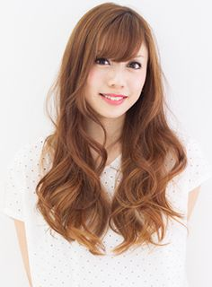 Japanese Long Hairstyle.
