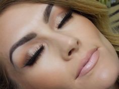 Brown Smokey Eye  Nude Lip