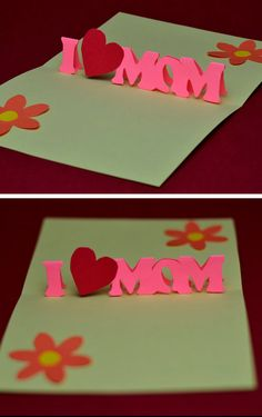 Mother's Day Pop Up Card | Easy Mothers Day Cards for Kids to Make