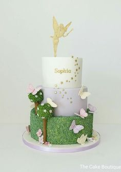Beautiful Image of Fairy Birthday Cake . Fairy Birthday Cake Fairies Theme Butterfly Cake Birthday Cake For Girls Fairy Tinkerbell Birthday Cakes, Garden Birthday Cake, Fairy Birthday Party, Cool Birthday Cakes, Birthday Cake Girls, Tinkerbell Party, Birthday Cakes For Girls, 5th Birthday, Birthday Ideas