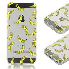 Coque iPhone 5S , iPhone SE Etui TPU , CaseLover Banane Motif Mode Etui Coque TPU Slim pour Apple iPhone 5 / 5S / SE Mode Flexible Souple Soft Case Couverture Housse Protection Anti rayures Mince Transparent Silicone Cover - Jaune - https://streel.be/coque-iphone-5s-iphone-se-etui-tpu-caselover-banane-motif-mode-etui-coque-tpu-slim-pour-apple-iphone-5-5s-se-mode-flexible-souple-soft-case-couverture-housse-protection-anti-rayures-mince-tran/
