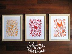 studiotomso-illustrations linogravures encadrées Stamp Printing, Screen Printing, Stamp Carving, Linoprint, Creation Deco, Scratchboard, Art Graphique, Tampons, Block Prints