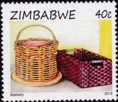 Francobollo: Basketry (Zimbabwe) Col:ZW 2015-021