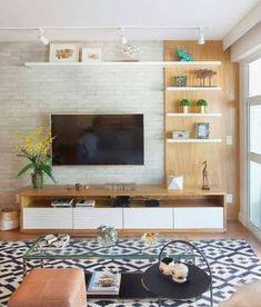 Cozy Living Rooms, New Living Room, Living Room Interior, Living Room Decor, Living Room Ideas Tv Wall, Apartment Interior, Tv Unit For Living Room, Decorate Apartment, Coastal Living