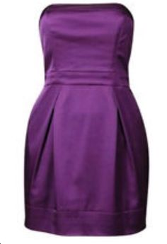 French Connection FCUK Purple Strapless Dress