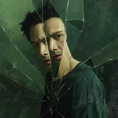 The Matrix (Lana & Lilly Wachowski, - Keanu Reeves Keanu Reeves John Wick, Keanu Charles Reeves, Movie Poster Art, Film Posters, Keanu Matrix, Keanu Reeves Matrix, Science Fiction, The Matrix Movie, Man In Black