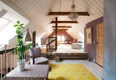 countryhouse attic / Ikea carpet / Imekauniks renoveeritud pika ajalooga talu Tartumaal